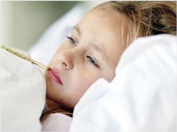 تغذیه کودک تب دار