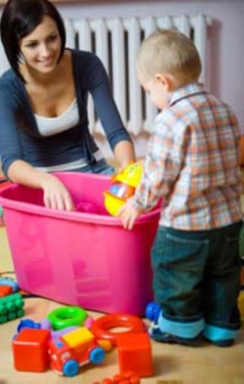 رعایت نظم و ترتیب در کودک یکساله