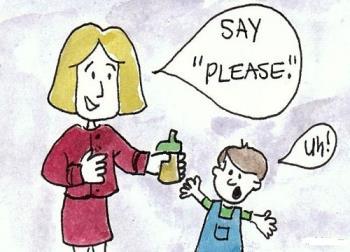 کودک آداب نمیداند