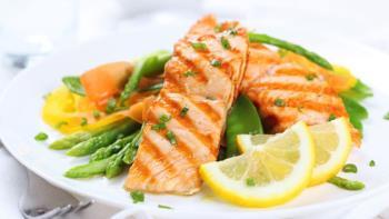 طرز تهیه ماهی سالمون با سبزیجات